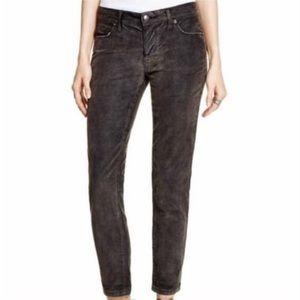 Free People Black Corduroy Skinny Jeans Size 28